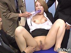 Mariru Amamiya Round Gangbanged By Her Coworkers
