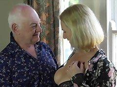 Revealed mature gets laid around senior man