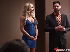 Muscular man Charles Dera fucks two murder hot chicks Alexis Fawx and Jessa Rhodes