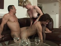Needy action for a bosom of bi-sexual lovers and a mature