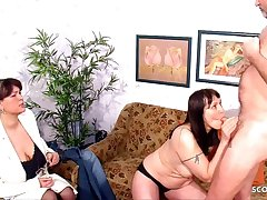 REAL GERMAN OLD COUPLE'S FIRST FFM Triad WITH MATURE