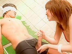 Exotic Japanese model Sayaka Tsuzi in Horny JAV uncensored Handjobs clip