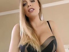 Seductive hottie Britt James gives a rimjob and gets her muff rammed