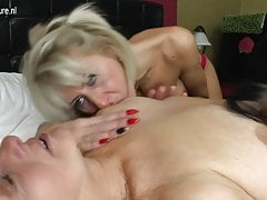 Girl fucks mature mom and granny