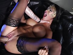 Milf dreams about having her shaved twat fucked by a masked prince