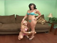 Beverly Hills and her wretch dressed up in some abettor hot lingerie to show their new toy