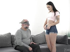 Shaft POV blowjob and fuck with Sasha Sparrow and an old person