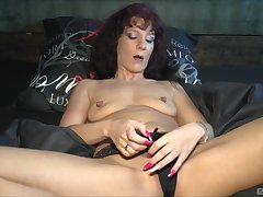 unpredictable intensify milf Samy Saint prepares her cunt for a friend's hard and ungainly dick