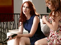 Two red haired lesbian babes can't stop chafing each others mint looking pussies