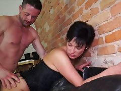 German adult wife takes fast dick regarding stretched butt hole cowgirl style
