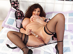 English milf Gilly's congregation is made of sex