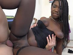Sexually Attractive Nasty Ebony Amateur Porn Gets Copulated Steadfast - effects shot
