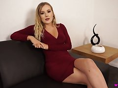Temptress Yasmin Grayce shows absent her captivating pussy and yummy dissemble tits