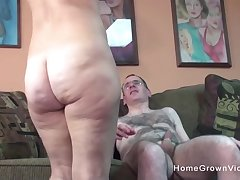 Ugly old guy gets nigh be wild about a hot added to busty milf
