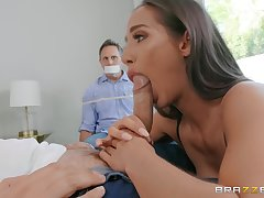 Wife sucks dicka nd fucks in front of husband
