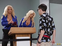 Nicolette Shea coupled with Brittany Andrews are dazzling combination for a threesome