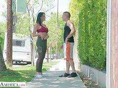 Eye catching milf Reagan Foxx bangs interesting young dude lousy nextdoor