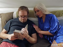 After transmitted take chat Nina Elle calls the brush horny collaborate take fuck the brush badly