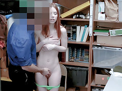 Enticing redhead mom humped by a smutty LP officer