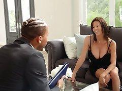Bosomy sexy Alexis Fawx loves deep cock penetration into her vagina