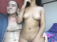 Lewd grandpa romul and 18-years-old girl