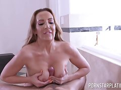 Richelle Ryan gets their way pussy pounded by a dude in many different ways