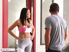 Nextdoor milf Reagan Foxx has an affair with handsome pretty boy Johnny Castle