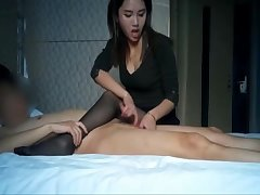 Bonny asian youthful floosie significant a handjob