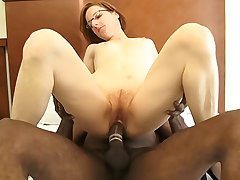 Tiny redhead mature gets fucked by a big black locate