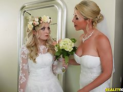A wedding day turns to a blowjob and hard be thrilled by for horny Lexi Lore