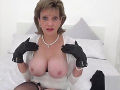 Unfaithful british milf lady sonia displays her humongous tits