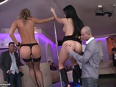 Aletta Gobs hot group sex in the man's club
