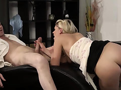 Blonde cam obese tits and man massage young girls She is so