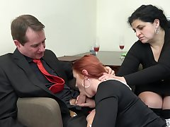Redhead maid Anna Jelinkova fucked up front of the house fit together