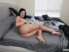 Chunky ass brunette gets potent respecting classic POV scenes