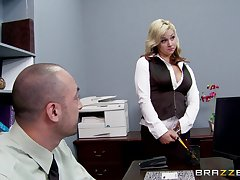 Sex in the office with respect to a broad in the beam locate king and scrimshaw Sarah Vandella
