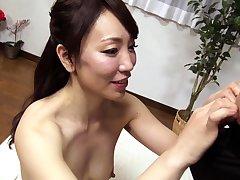 Subtitled bask Japanese amateur double handjob blowjob