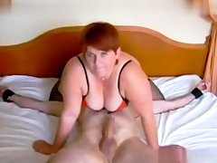 Femdom fetish grown-up brit russian cumshot
