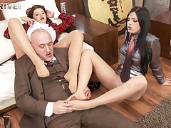 Foursome fucking with respect to be transferred to office with Anna Polina and Cecilia De Lys