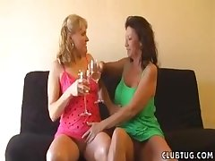Matures love to party and they seduce a handful of fortuitous guy for a handjob