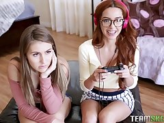 Paige Owens with an increment of Vanna Bardot are every close by a catch mood to be naughty girls with each other