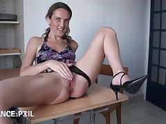 French Bitch Takes A Twosome Pricks