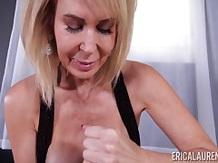 Blonde grown-up housewife Erica Lauren is guru be useful to sensual daily handjob