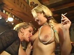 Smoking blonde lesbians