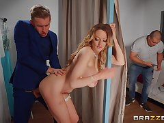 Deep penetration orgasms after the MILF tries a young hammer