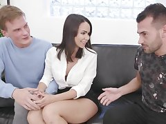 Shy German Wife Jessy Jey Kisses Cuckold Sign in Eating a Strangers Creampie