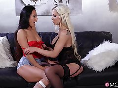 Hot licking and ballpark toy play with Lexi Dona and Barbie Sins