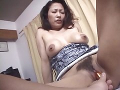 Japanese wife Marie Sugimoto gets her pussy fucked in sexton