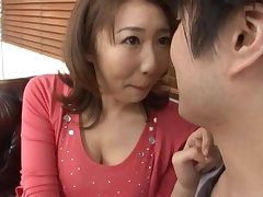 Cute Japanese MILF Anna Hoshi enjoys sucking a large dick. HD