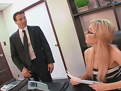 Well-endowed amateur secretary is alright with getting laid convenient an obstacle office